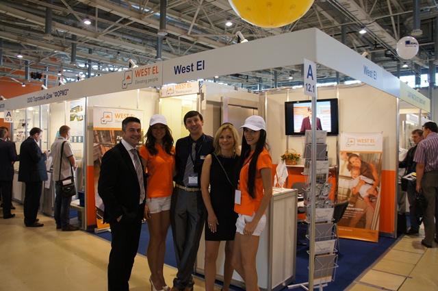WEST EL впервые принимала участие в международной выставке «Лифт Экспо Россия -2013»